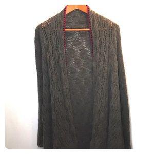 Sleeping On Snow Wool Blend Long Cardigan Medium